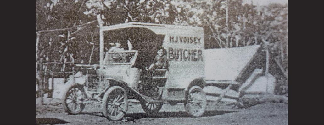 Voisey's Butcher Van Kenmore c1920s