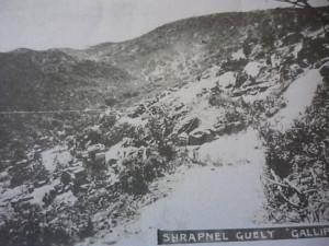 Shrapnel Gully 1915. Image Courtesy Australian War Memorial