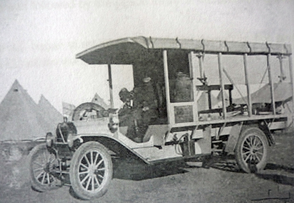 Ambulance in Egypt – Image courtesy Australian War Memorial