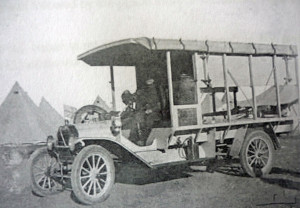 Ambulance in Egypt – Image courtesy Australian War Memorial